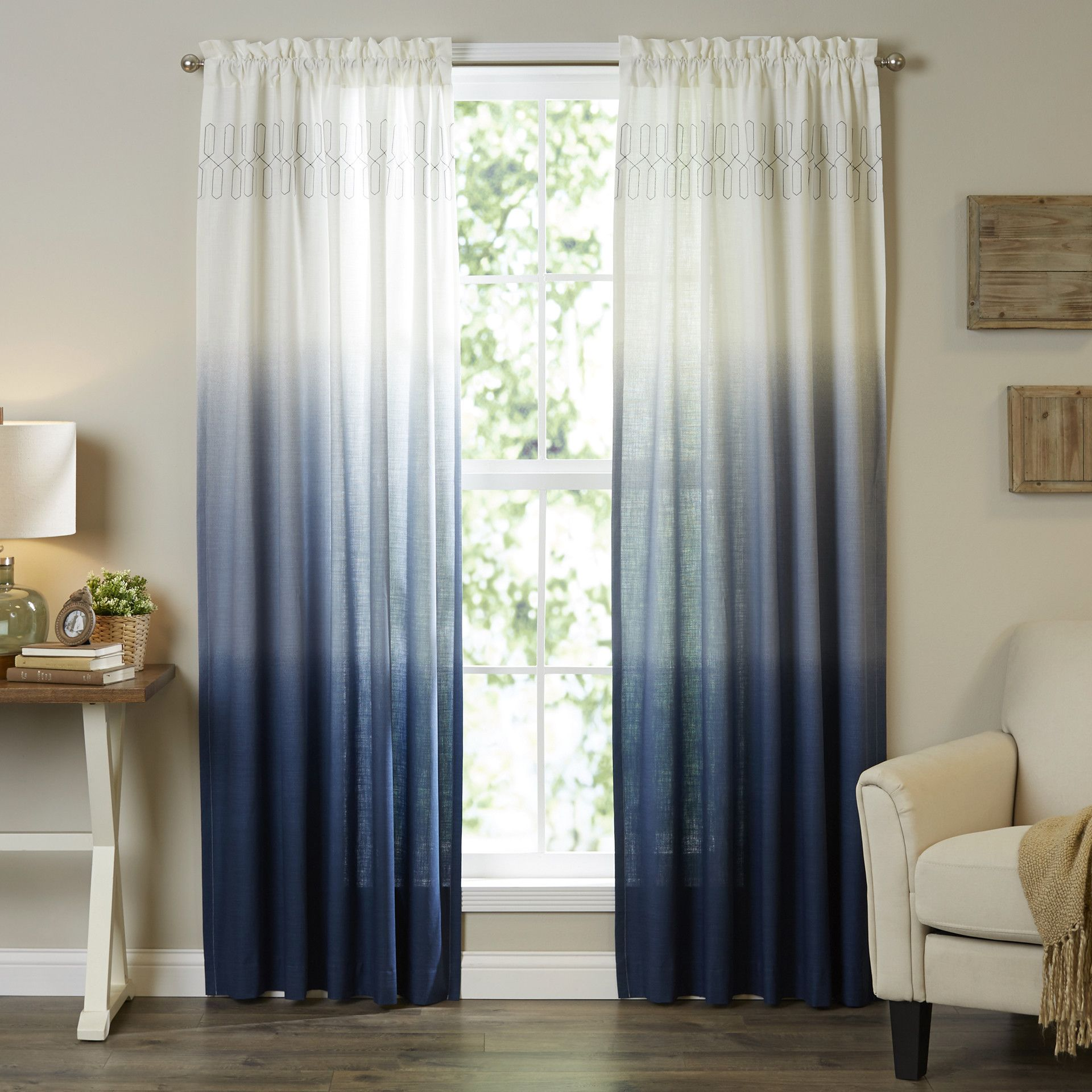 Contemporary curtains panels - Vue Signature Wilkinson Ombre Pinch Pleat Single Curtain Panel Contemporary
