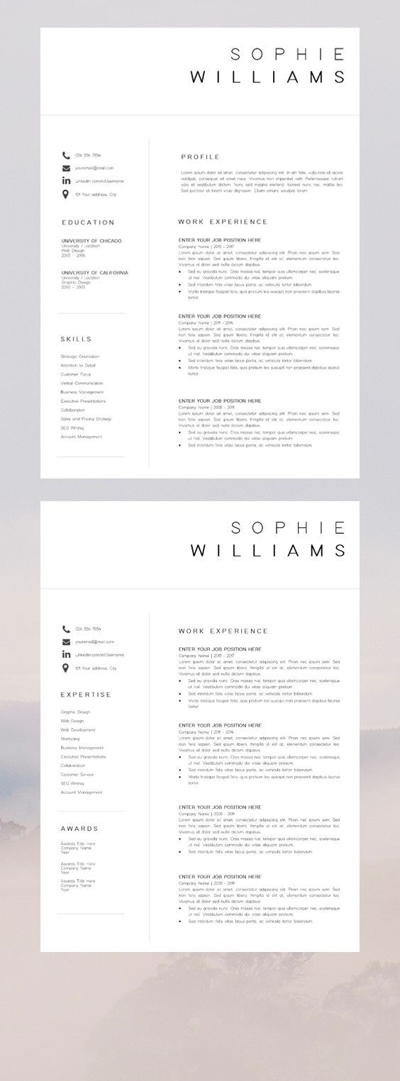 Resume Template | Modern Resume | Professional Resume | Creative Resume | CV Template | Resume Template Word | CV | Resume Design | Shop Now
