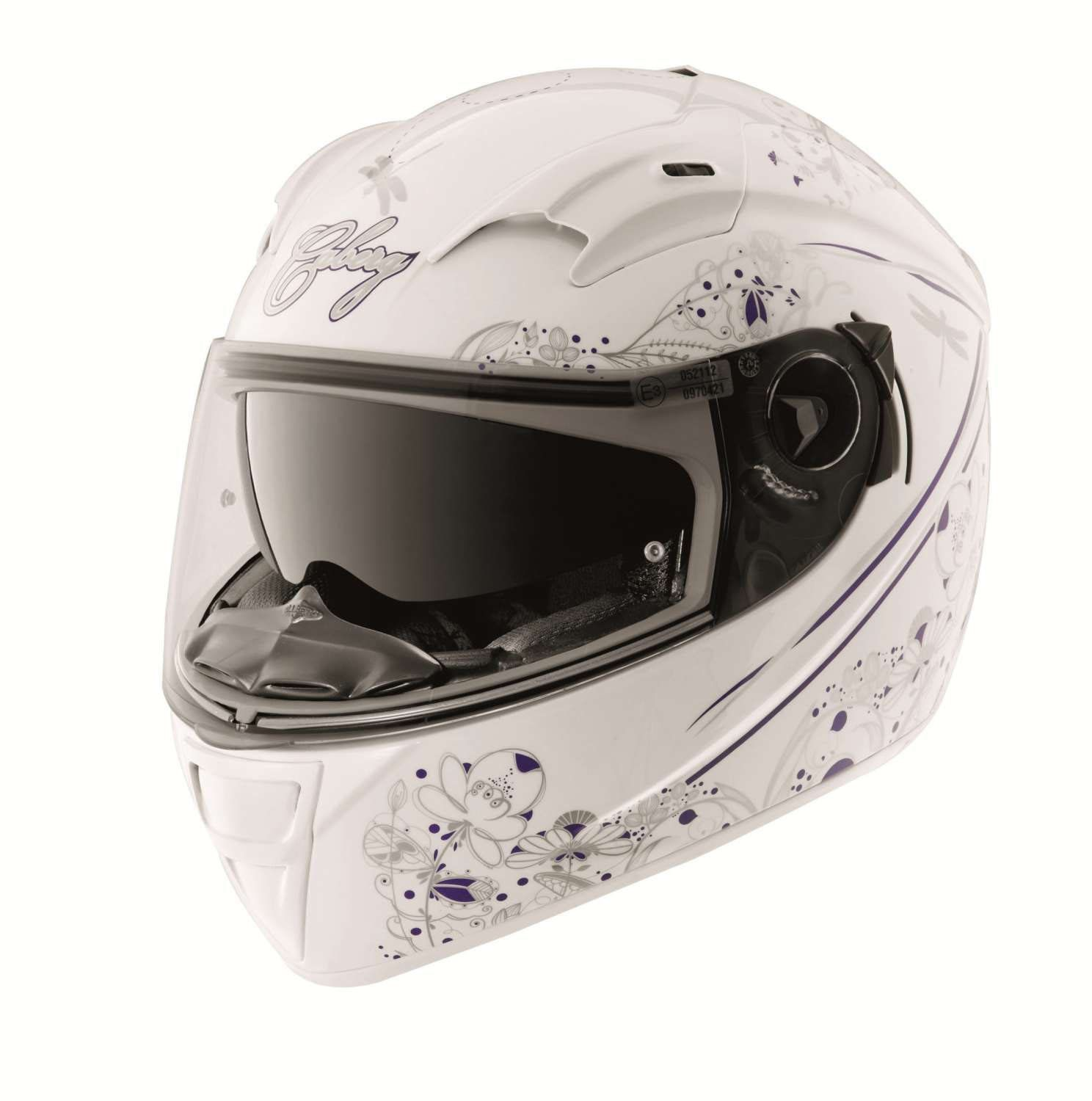 Caberg Vox Romantik White/Multi X-Small Helmet: Amazon.co.uk: Car & Motorbike