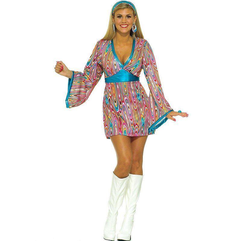 Wild Swirl Disco Dress Costume - Adult Size Medium/Large Blue  sc 1 st  Pinterest & Wild Swirl Disco Dress Costume - Adult Size: Medium/Large Blue ...