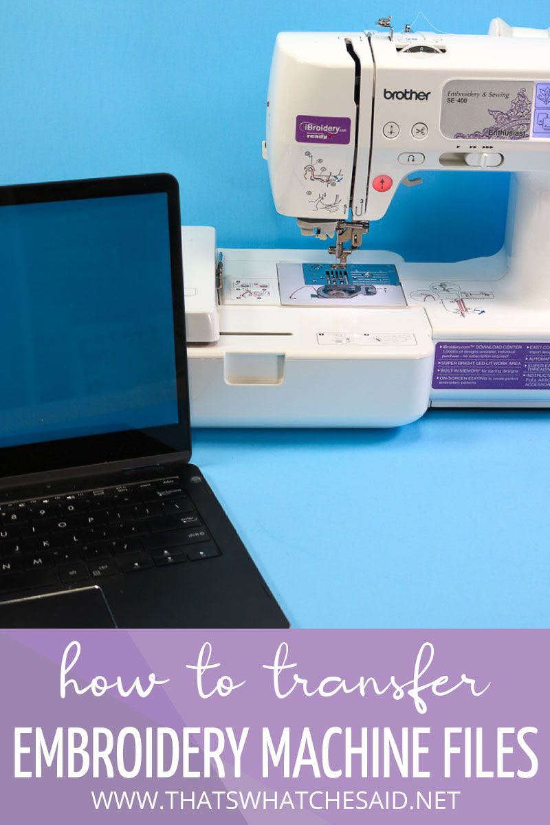 How to transfer embroidery files from your computer to