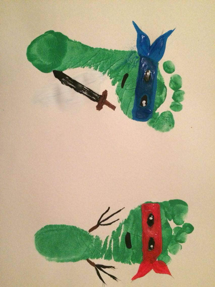 Ninja Turtle Footprints My Projects Pinterest