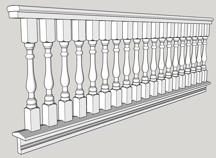 Best 2 1 2 Wood Spindle Porch Railing Designs Victorian 640 x 480