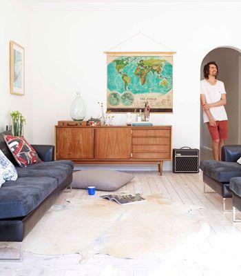 Une vieille maison joliement rénovée à Sydney   Muebles salon y Salón