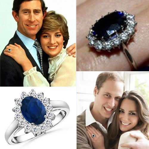 Lady Diana And Princess Kate Middleton Shire Engagement Ring