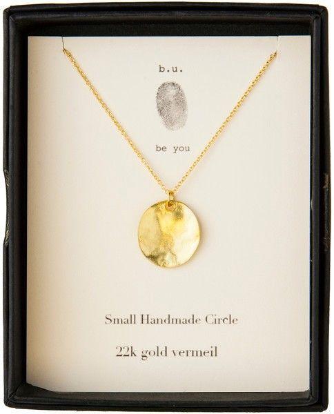 NE181V Small Handmade Circle Gold - classic simplicity - single charm necklaces - shop