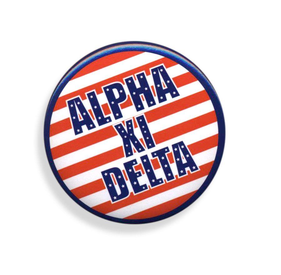 Alpha Xi Delta Patriotic USA Button  from GreekGear.com