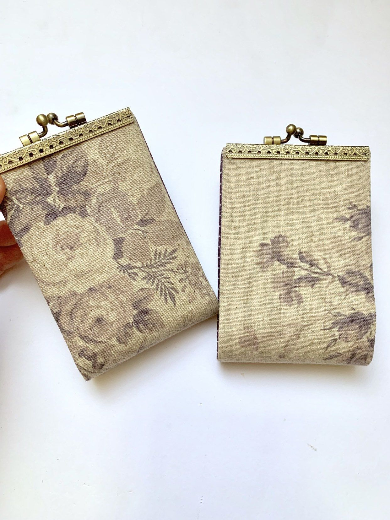 Vintage Womens Credit Card Holder Business Card Wallet Card Etsy Business Card Wallet Card Wallet Fabric Cards