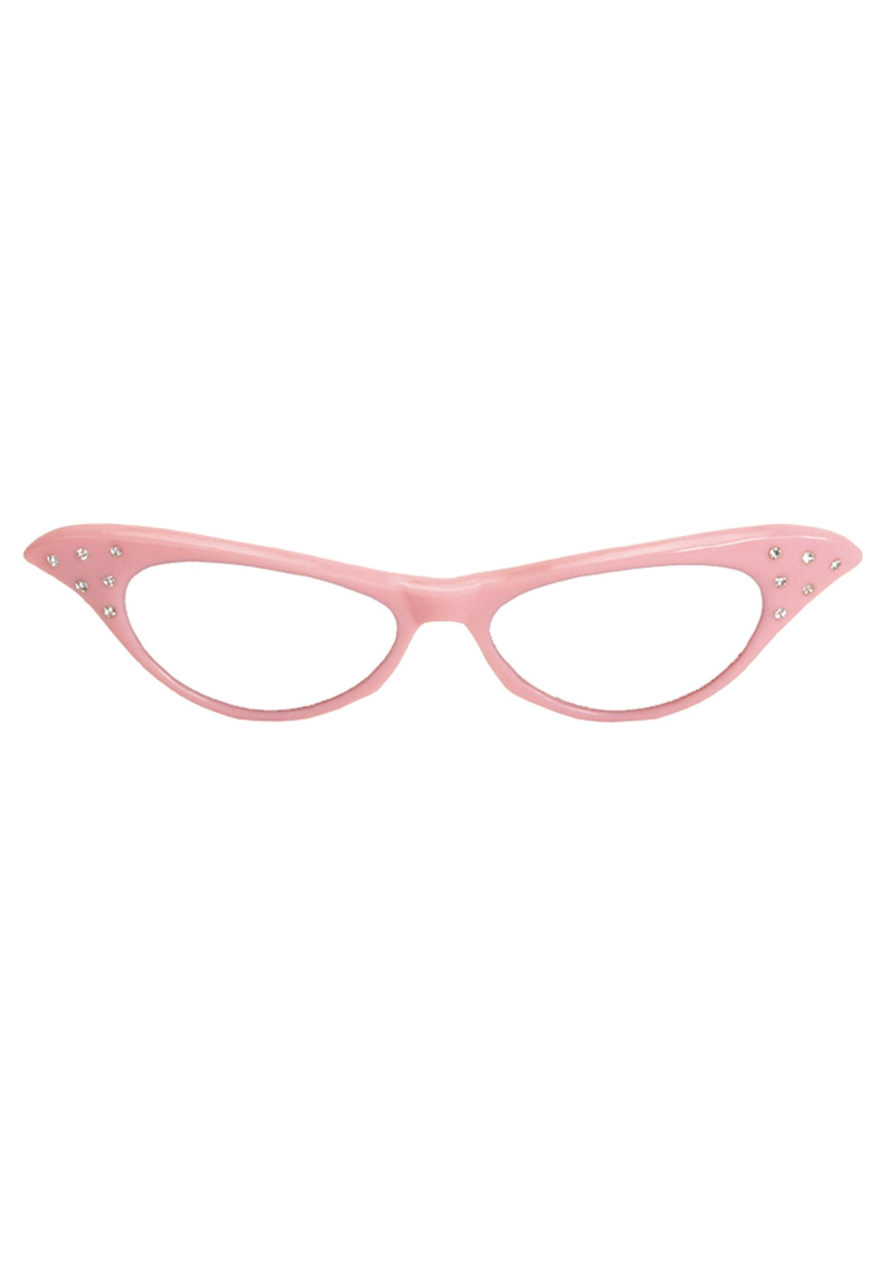 dd3da1bc60 Amazon.com  Rhinestone Cat Eye 50s Party Glasses in Many Colors (Pink)   Clothing