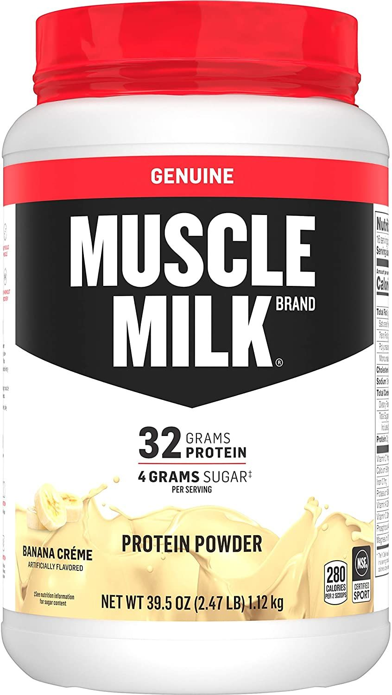 Muscle Milk Genuine Protein Powder Banana Creme 32g Protein 2 47 Pound 16 Servings Muscle Milk Protein Powder Milk Brands