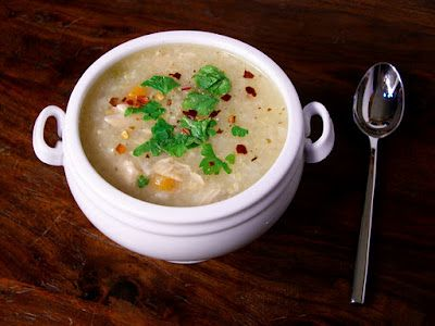 Crock pot Lemon Chicken and Brown Rice Soup. Sounds bright and refreshing, and who doesn't like fix it and forget it crock pot recipes!