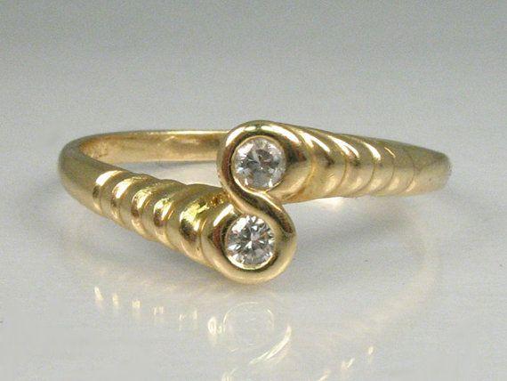 Sweet Vintage Two Stone Diamond Ring by lonestarestates on Etsy $168.00