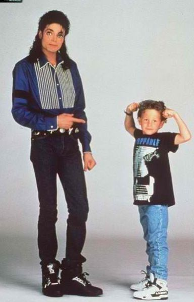 Michael Jackson at a LA Gear photoshoot