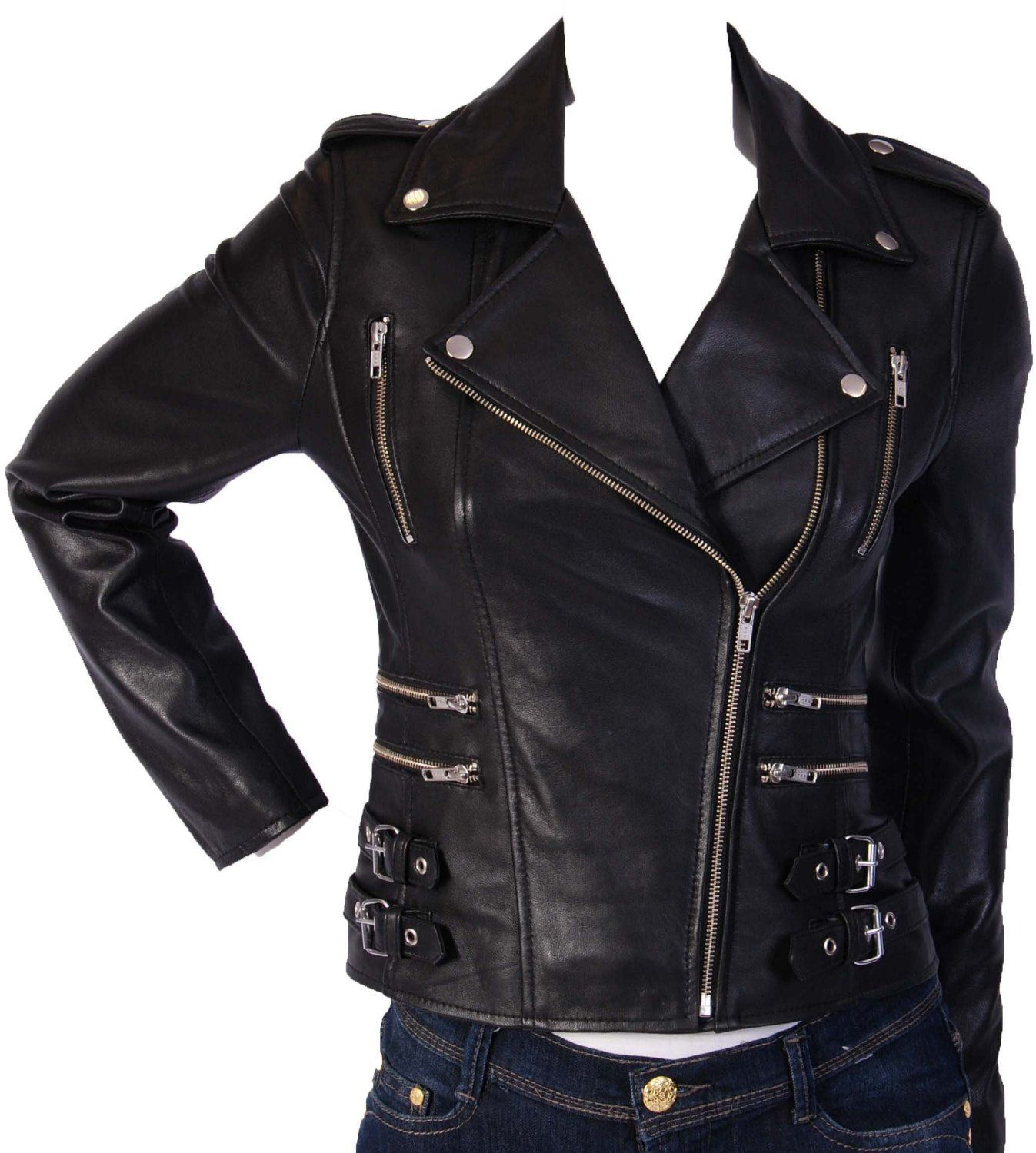 Leather Biker Womens Jacket - JacketIn