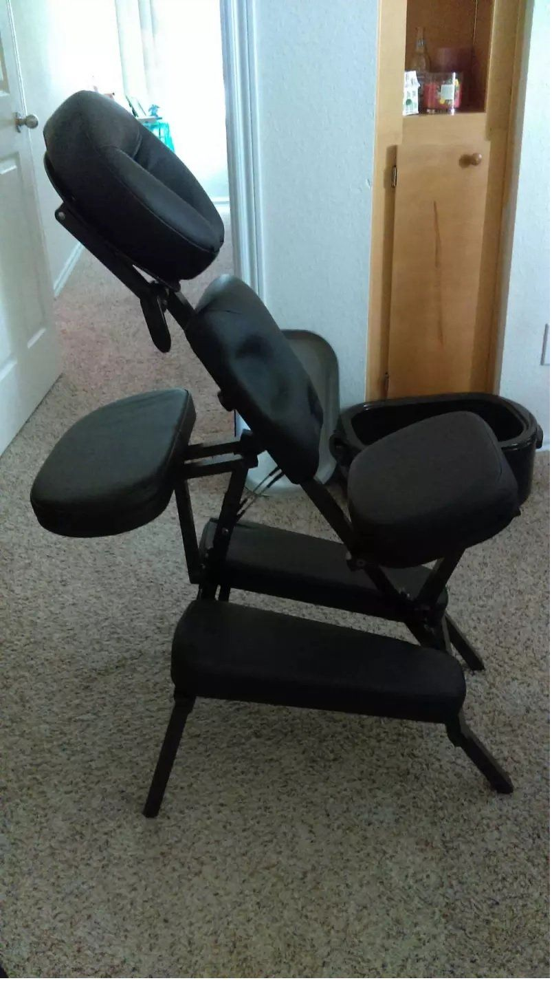 NRG® Adjustable Massage Chair with Carrying