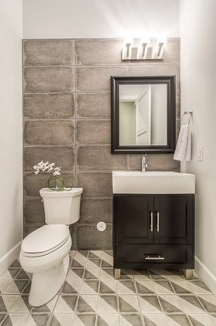 Contemporary powder room with bellaterra home ramsey 32 for Modern powder room vanity