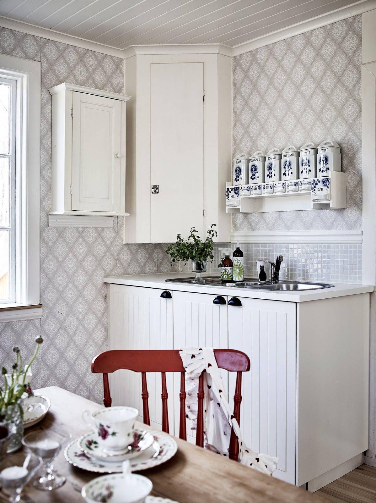 jak wybrać tapetą do kuchni? tapeta zmywalna, tapeta w   -> Kuchnia Tapeta Zamiast Plytek