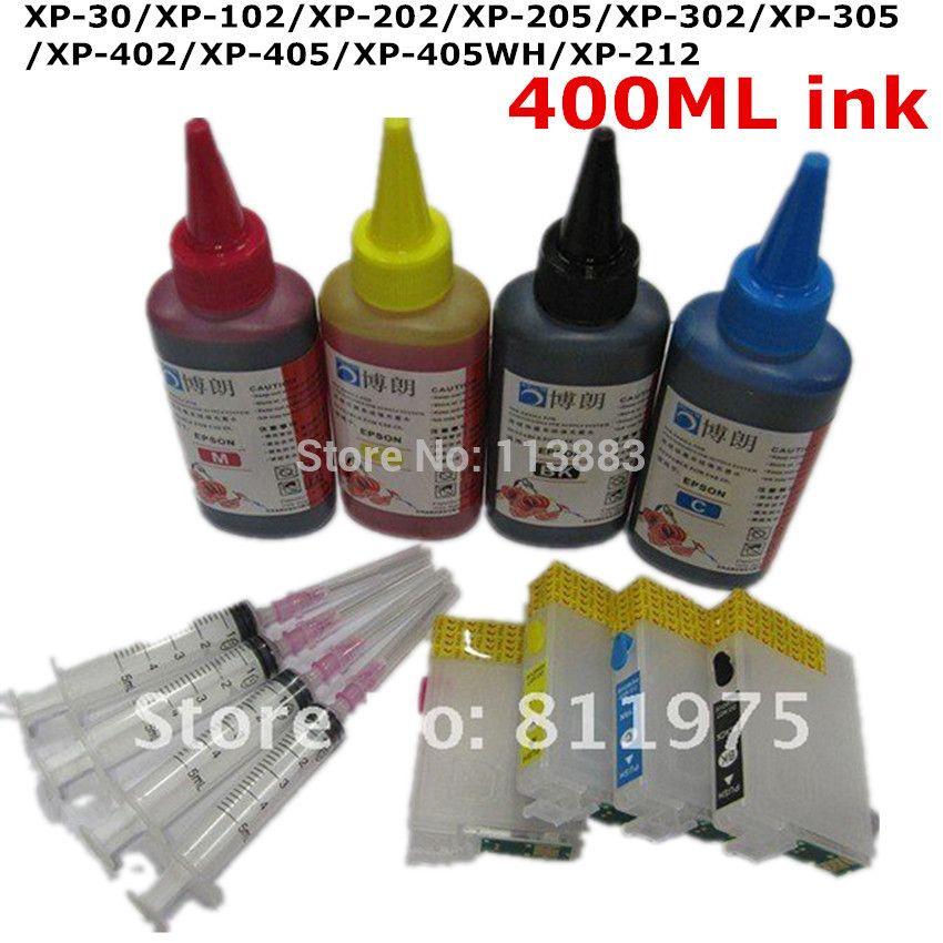 T1811refillable Ink Cartridge For Epson Xp 30 Xp 102 Xp 202 Xp 205 Xp 302 Xp 305 Xp 402 Xp 405 Xp 212 For Epson De Ink Cartridge Epson Ink Cartridges Printer