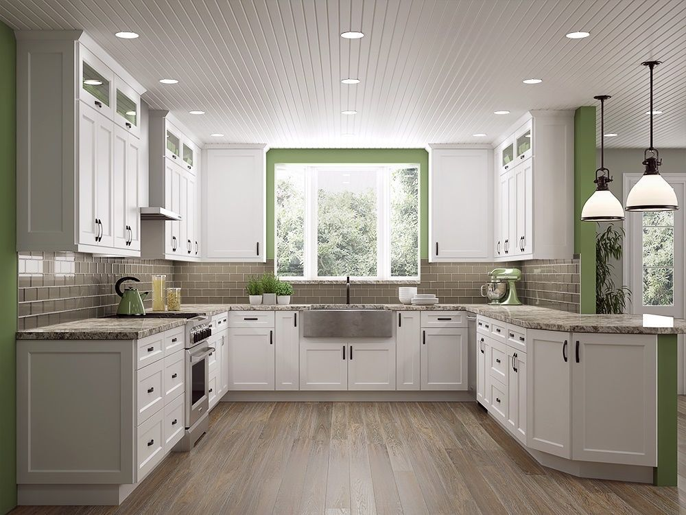 Dakota White Rta Kitchen Cabinets: Shaker White RTA Cabinets 10 X 10 Kitchen