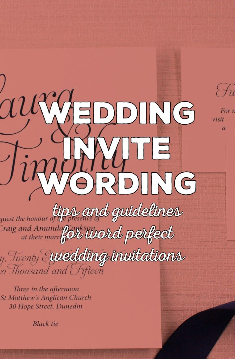 Wording wedding invitations - a beginners guide | Wedding, Southern ...