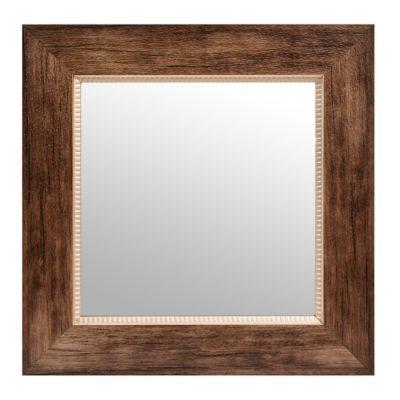 Natural Brown Square Framed Mirror, 17x17   Kirklands