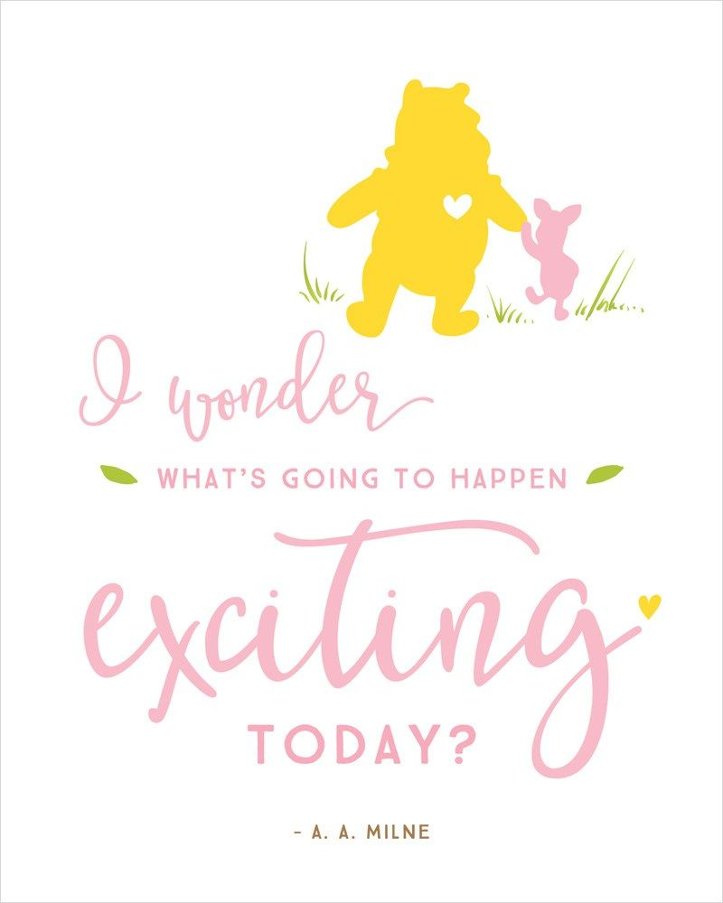 Winnie The Pooh Baby Shower Quotes : winnie, shower, quotes, Winnie, Shower, Printables, Yellow, Hostess, Mostess®, Printables,, Quotes,, Disney