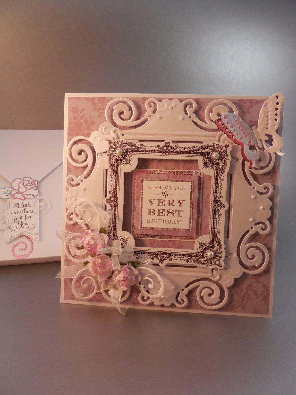 birthday card for her handmade birthday card foiled