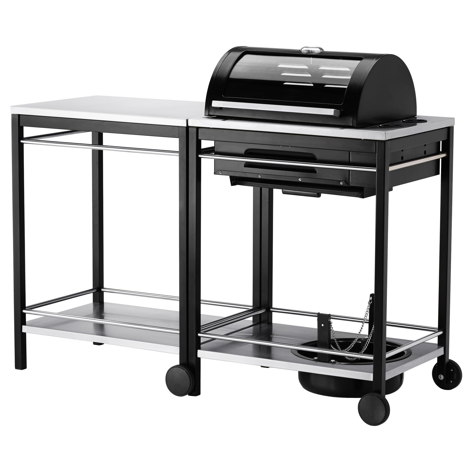Ikea Barbecue Charbon De Bois $558 klasen gas barbecue with trolley - stainless steel