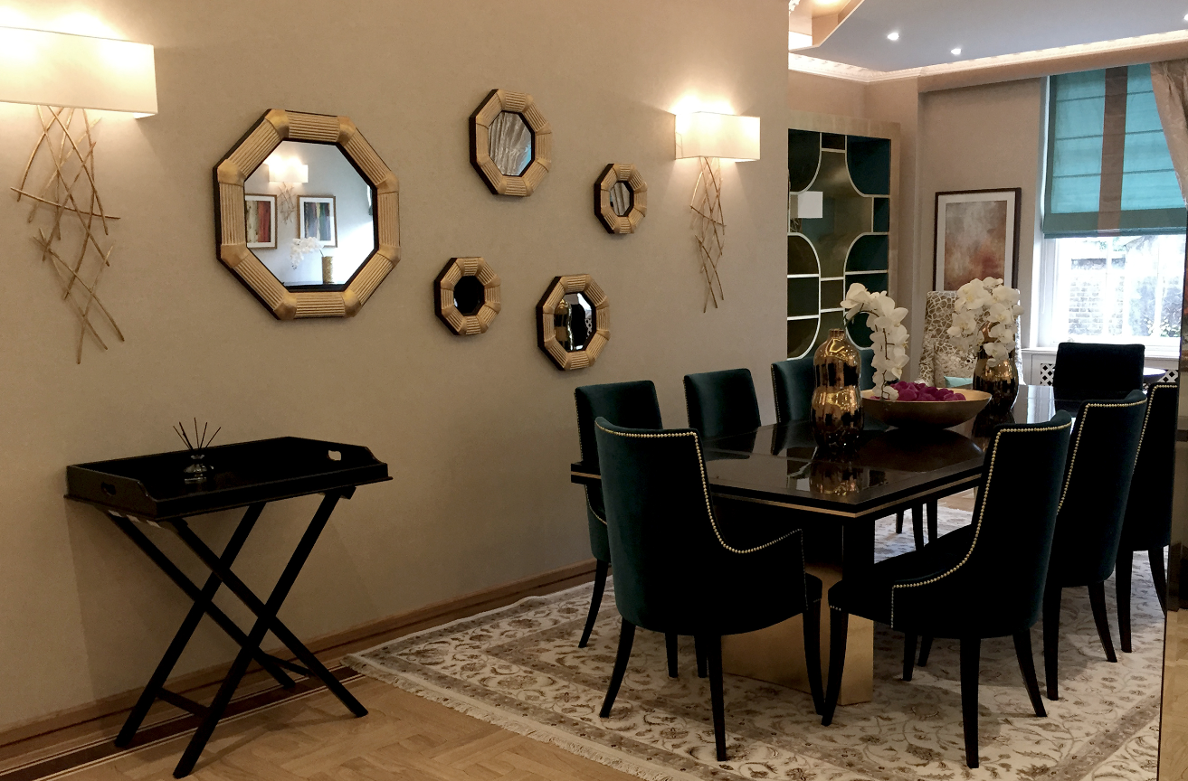 Luxury Dining area in Abbey Lodge building - London | SISSY FEIDA INTERIORS