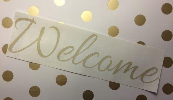 Welcome Door Decal. Welcome Door Sticker Door by hmonograms3