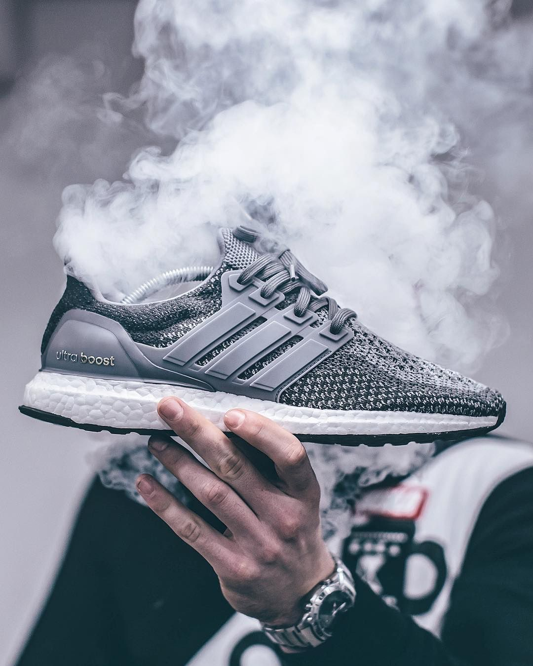 best website 13a23 d695b Adidas Ultra Boost 2.0 - Mystery Grey customized -... – Sweetsoles –  Sneakers, kicks and trainers. On feet.