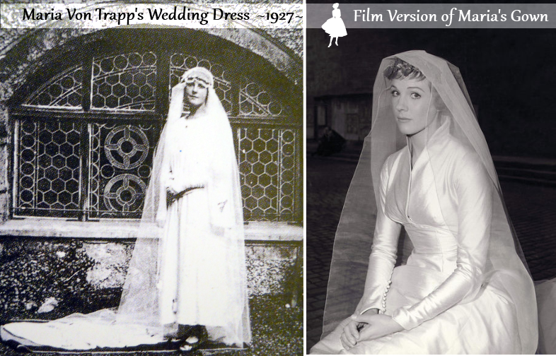 therealmariavontrappsweddingdress maria von trapp