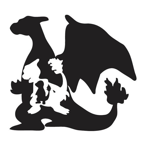 pokemon charizard charmander charmeleon evolution decal sticker free shipping cameo. Black Bedroom Furniture Sets. Home Design Ideas