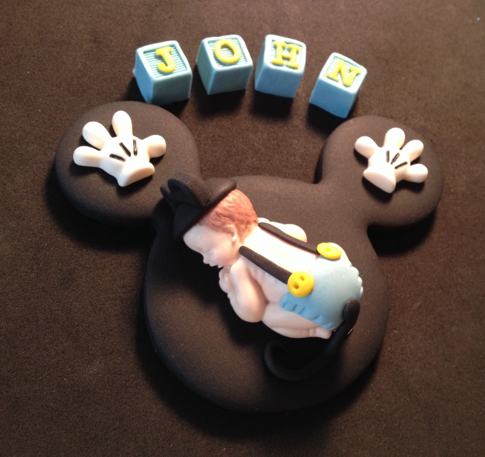 how to make fondant cake fondant personalized mickey baby cake topper by 4993