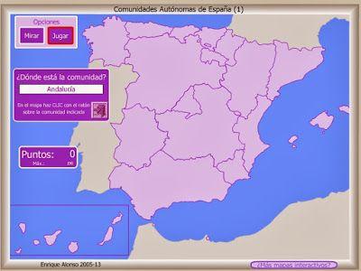 El Blog De Español Del Liceo Scientifico G Marconi Geografia Comunidades Autonomas De Espana Comunidades Autonomas Mapa Interactivo