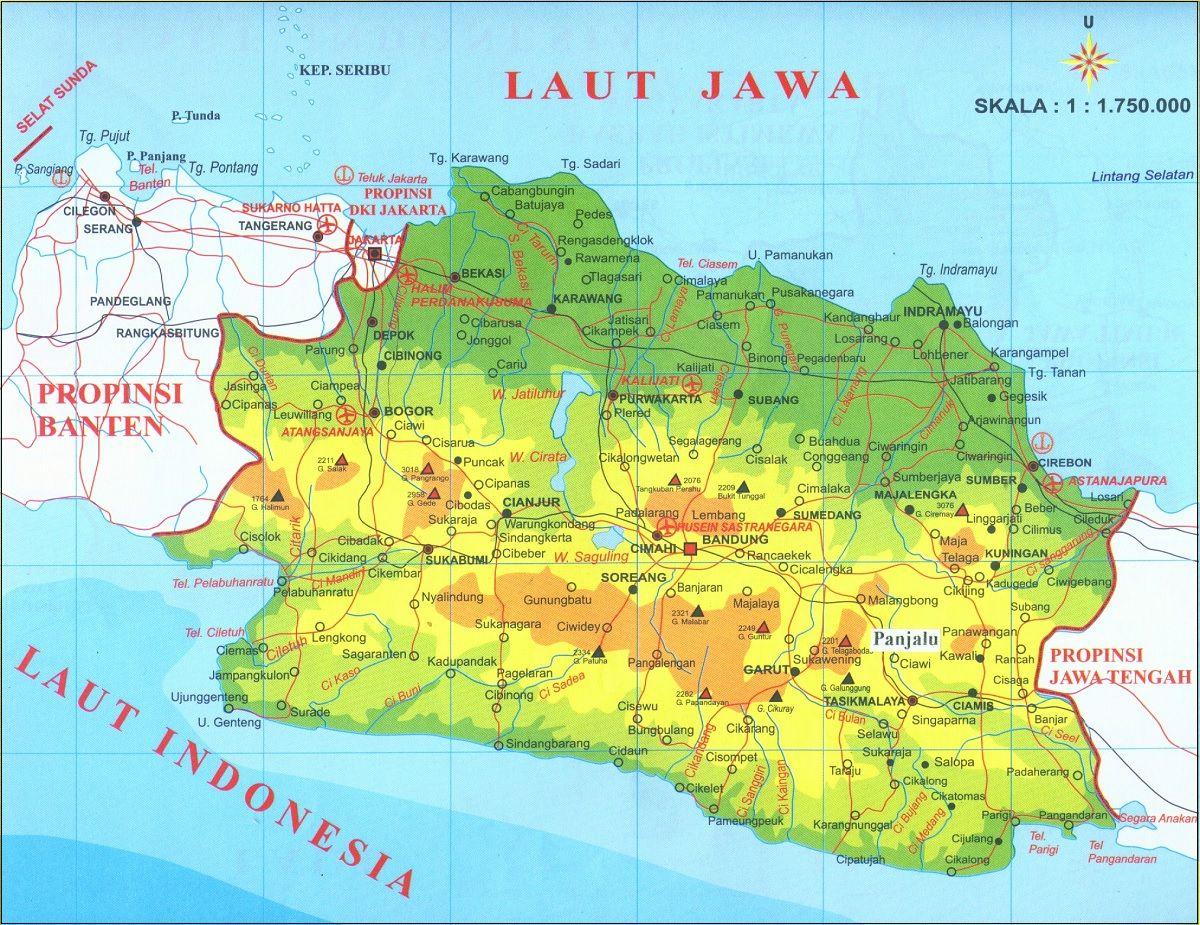 Peta Jawa Barat Lengkap Terbaru Gambar Hd Dan Keterangannya Peta Gambar Sejarah