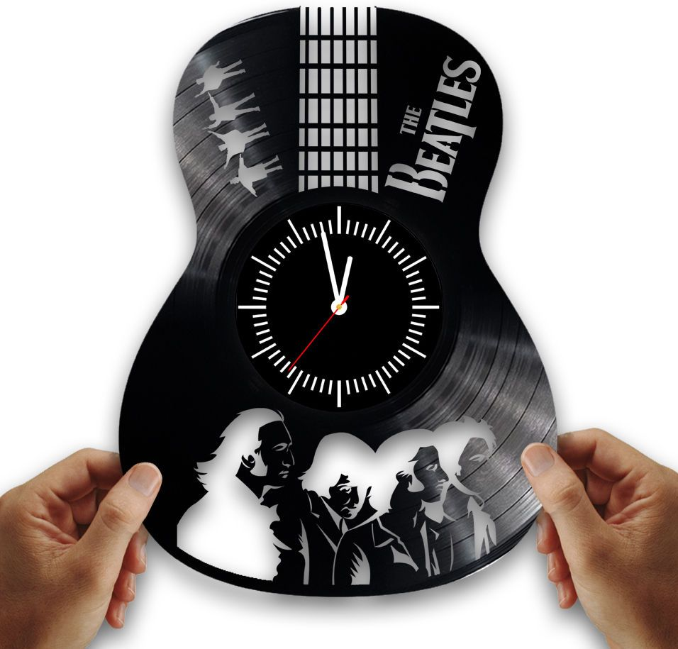 Beatles From Vintage Vinyl Records Handmade Clock Beatles