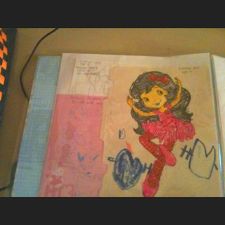 Using a scrapbook for kids artwork