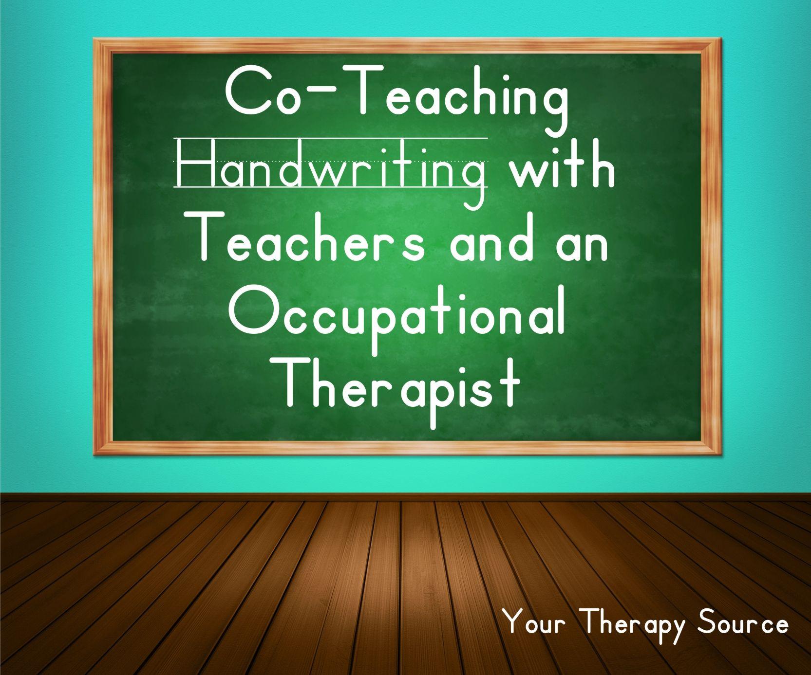 Co Teaching Handwriting