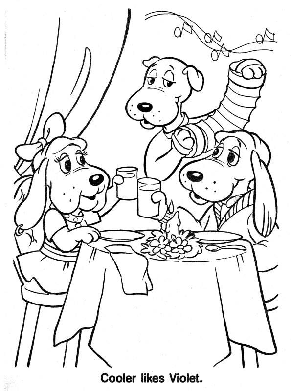 poundpuppies 1980s coloring page coloring pages