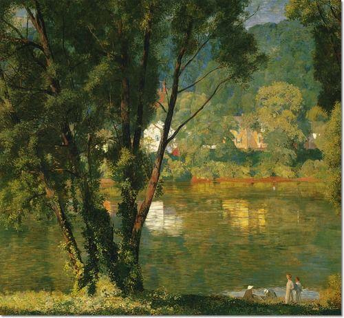 Daniel Garber - Riverbanks, Milford