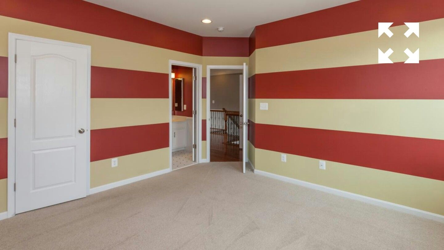 Cool stripes for a kid's room!