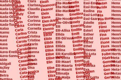 Jadeliina, Smilla ja Eetvi – katso liki 6000 nimen listasta, miten lapsia nyt nimetään - Nimet ja nimipäivät - Kuukausiliite - Helsingin Sanomat