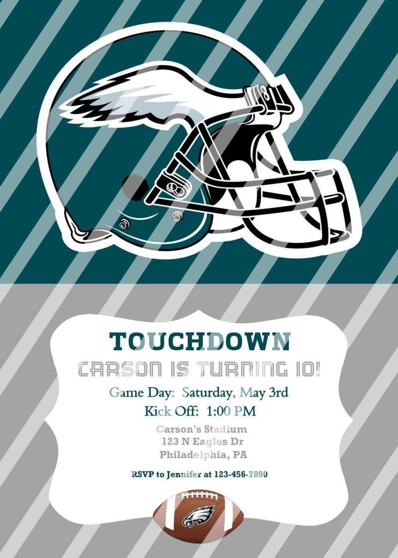 Philadelphia Eagles Personalized Party Invitation #42 (digital file you print)
