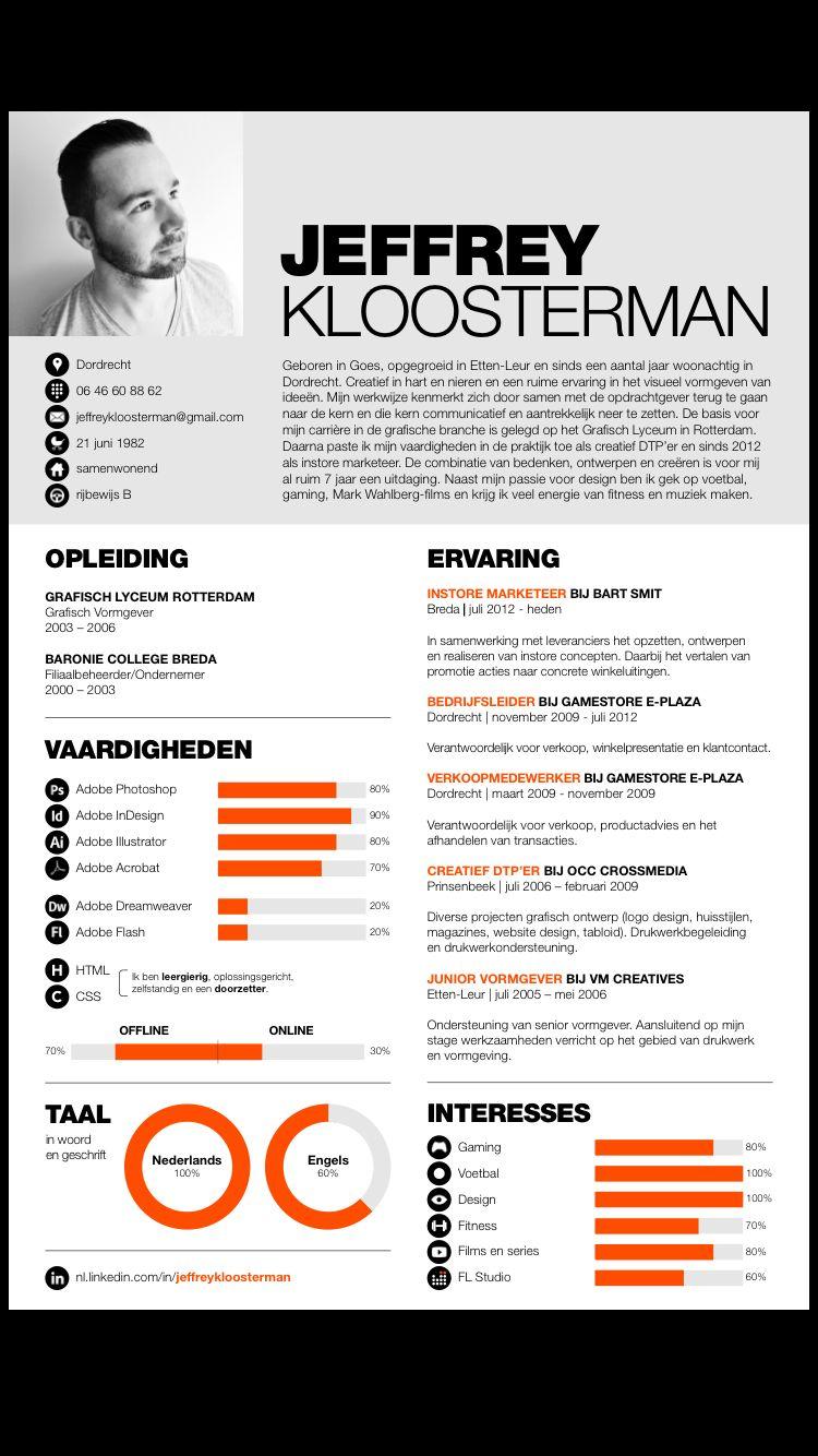 Mijn CV   Nieuwe stijl! | CV | Pinterest