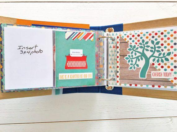 Family Premade Scrapbook Album Family Scrapbook Mini Simple