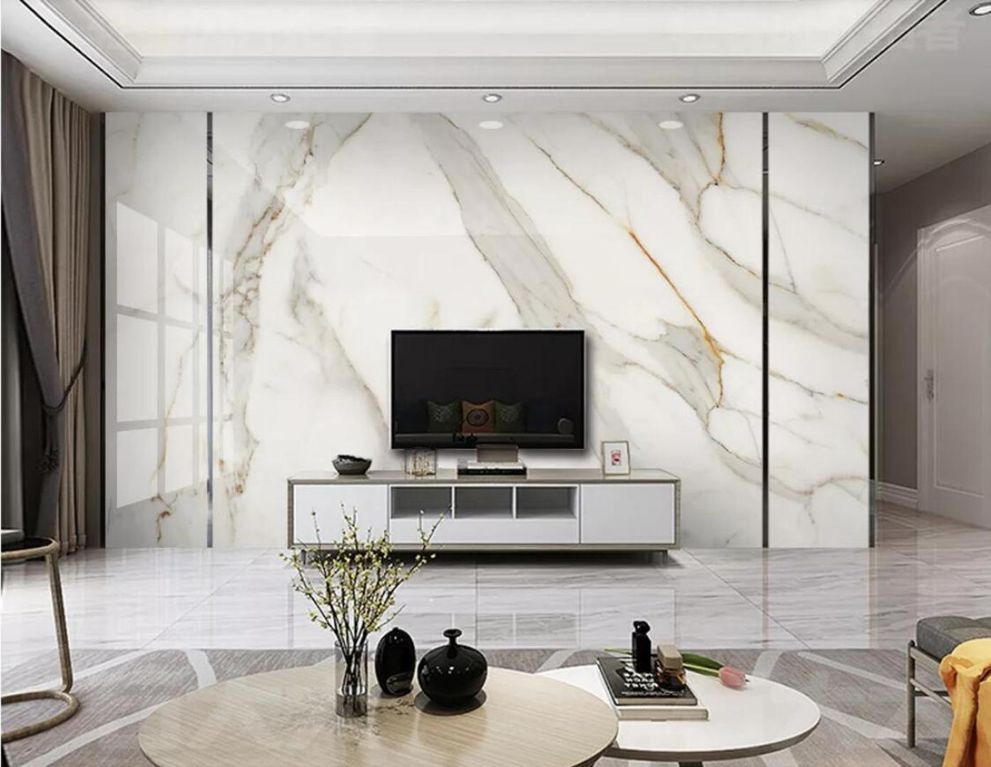 White Marble Wallpaper 3D White Wall ...