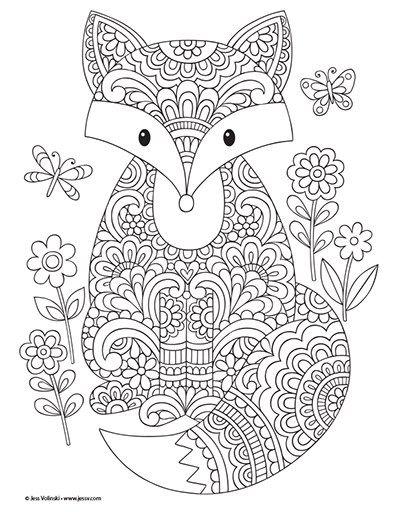 Coloriage automne enfant et adultes coloriages zen et anti stress coloriage coloriage - Coloriage magique automne ...