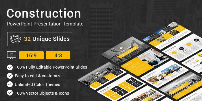 Construction PowerPoint Presentation Template PowerPoint