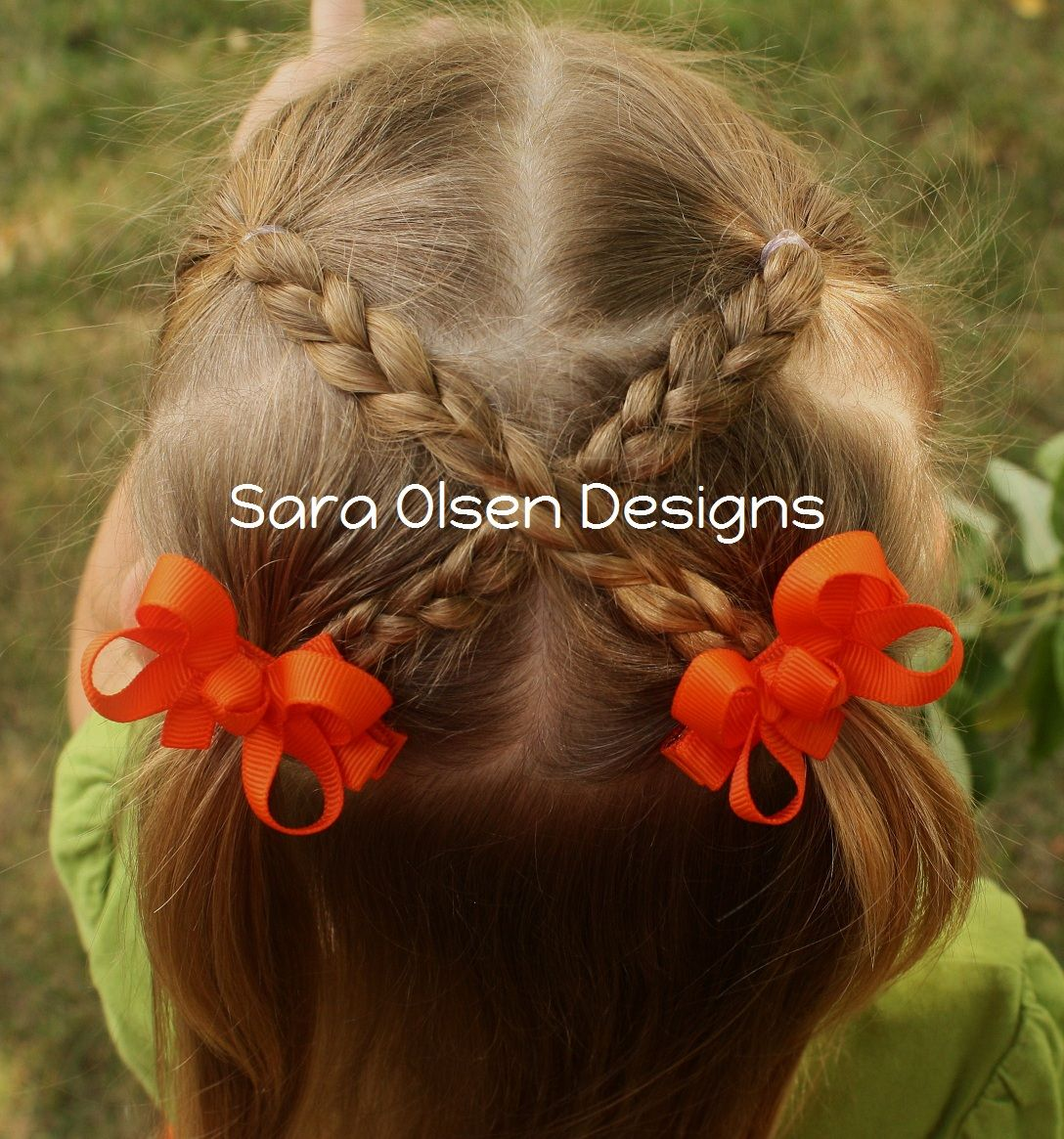 Creative toddler hairstlye crisscross braids hair pinterest